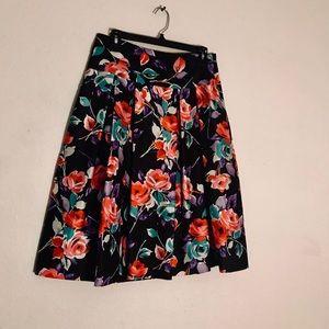 EXPRESS Silk Pleated Skirt